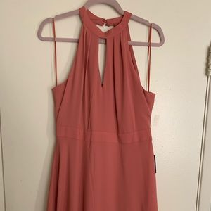 Halter Dress. Beautiful rust color. Never worn